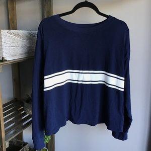 SO Blue Stripe Relaxed Long Sleeve
